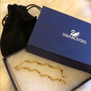 Swarovski 🤩 Gold Tone Link Bracelet
